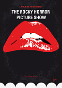 Los Angeles Digital Art Metal Prints - No153 My The Rocky Horror Picture Show minimal movie poster Metal Print by Chungkong Art