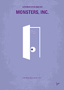 Friend Glass - No161 My Monster Inc minimal movie poster by Chungkong Art