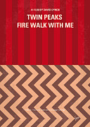 Fire Framed Prints - No169 My Fire walk with me minimal movie poster Framed Print by Chungkong Art