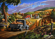 Autumn Scenes Originals - no17 Old Fasioned Wishes by Walt Curlee