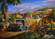 Autumn Scenes Originals - no17 Thinking of you by Walt Curlee