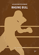 Boxing Posters - No174 My Raging Bull minimal movie poster Poster by Chungkong Art