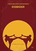 Kickboxing Framed Prints - No178 My Kickboxer minimal movie poster Framed Print by Chungkong Art