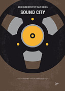 Sound Digital Art - No181 My Sound City minimal movie poster by Chungkong Art