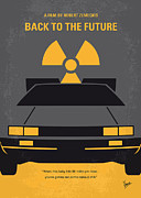 Simple Digital Art Metal Prints - No183 My Back to the Future minimal movie poster Metal Print by Chungkong Art
