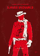 Movie Digital Art Metal Prints - No184 My Django Unchained minimal movie poster Metal Print by Chungkong Art