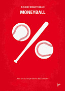 Baseball Digital Art Posters - No191 My Moneyball minimal movie poster Poster by Chungkong Art