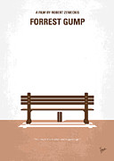 Movie Digital Art Metal Prints - No193 My Forrest Gump minimal movie poster Metal Print by Chungkong Art