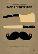 Cult Digital Art - No195 My Gangs of New York minimal movie poster by Chungkong Art