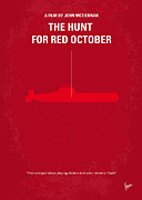 Hunt Digital Art Metal Prints - No198 My The Hunt for Red October minimal movie poster Metal Print by Chungkong Art