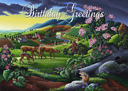 Tennessee Farm Originals - no20 Birthday Greetings by Walt Curlee