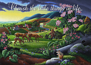 Wonderful Painting Originals - no20 Cherish the little things in life by Walt Curlee