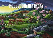 Tennessee Farm Originals - no20 Happy 70th Birthday by Walt Curlee