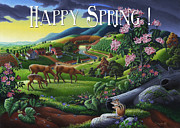 Tennessee Farm Originals - no20 Happy Spring by Walt Curlee