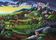 Tennessee Farm Originals - no20 Thank you for being my friend by Walt Curlee