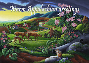 Farm Prints - no20 Warm Appalachian greetings Print by Walt Curlee