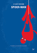 Spiderman Framed Prints - No201 My Spiderman minimal movie poster Framed Print by Chungkong Art