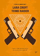 Diamond Digital Art Posters - No209 Lara Croft Tomb Raider minimal movie poster Poster by Chungkong Art