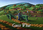 John Deere Paintings - no21 Guess What greetings by Walt Curlee