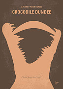 Nyc Posters Digital Art Metal Prints - No210 My Crocodile Dundee minimal movie poster Metal Print by Chungkong Art