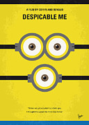 Greatest Metal Prints - No213 My Despicable me minimal movie poster Metal Print by Chungkong Art