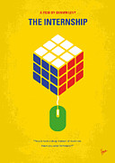Universities Digital Art Posters - No215 My The Internship minimal movie poster Poster by Chungkong Art