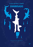 Shark Digital Art Prints - No216 My Sharknado minimal movie poster Print by Chungkong Art