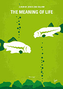 Fish Digital Art Prints - No226 My The Meaning of life minimal movie poster Print by Chungkong Art