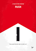 Howard Framed Prints - No228 My Rush minimal movie poster Framed Print by Chungkong Art