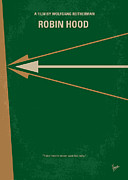 Best Digital Art - No237 My Robin Hood minimal movie poster by Chungkong Art