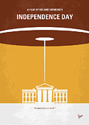 White House Digital Art - No249 My INDEPENDENCE DAY minimal movie poster by Chungkong Art