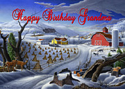 New England Winter Originals - no3 Happy Birthday Grandma by Walt Curlee