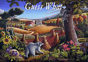 Folksy Paintings - no6 Guess What  by Walt Curlee