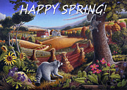 Folksy Paintings - no6 Happy Spring by Walt Curlee