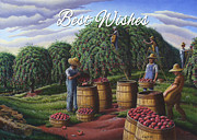 Country Scenes Originals - no8 Best Wishes by Walt Curlee