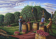 Autumn Scenes Originals - no8 Guess What by Walt Curlee