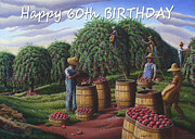 Ohio Paintings - no8 Happy 60th Birthday by Walt Curlee