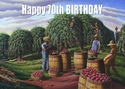 Ohio Paintings - no8 Happy 70th Birthday by Walt Curlee