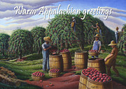 Autumn Scenes Originals - no8 Warm Appalachian greetings by Walt Curlee