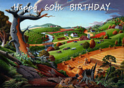 Regionalism Paintings - no9 Happy 60th Birthday by Walt Curlee