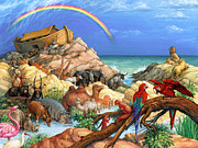 Ark Prints - Noah and the Ark Print by Randy Wollenmann