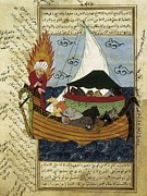 Miniatures Art - Noahs Ark. 16th C. Ottoman Art by Everett