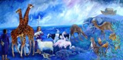 Noah Paintings - Noahs Ark - After the Flood -inspired by Bible story  by Trudi Doyle