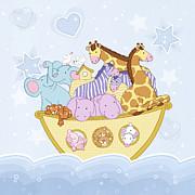Noah's Ark Print by Amalou Studio