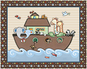 Noah Painting Framed Prints - Noahs Ark Framed Print by Cheryl Lubben