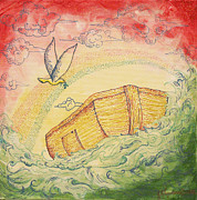 Noah Paintings - Noahs Ark by Jennifer Lueders