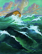 Waterscape Painting Posters - Noahs Ark Poster by Karon Melillo DeVega