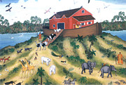 Noahs Ark Paintings - Noahs Ark by Linda Mears
