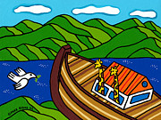 Noah Paintings - Noahs Ark by Mike Segal