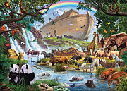 Rainbow Digital Art Metal Prints - Noahs Ark Metal Print by Steve Crisp